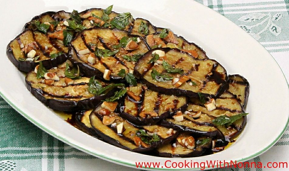 Grilled eggplant balsamic