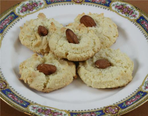 Almond Cookies With Almond Paste Almond Flower Cookies