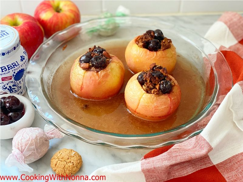 Amarena Almond Baked Apples