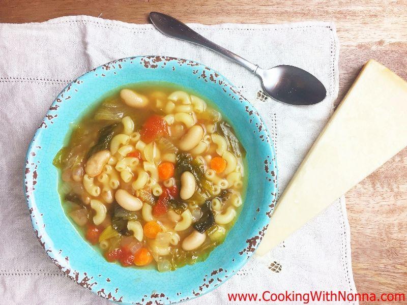 Escarole & Bean Soup with Elbow Pasta