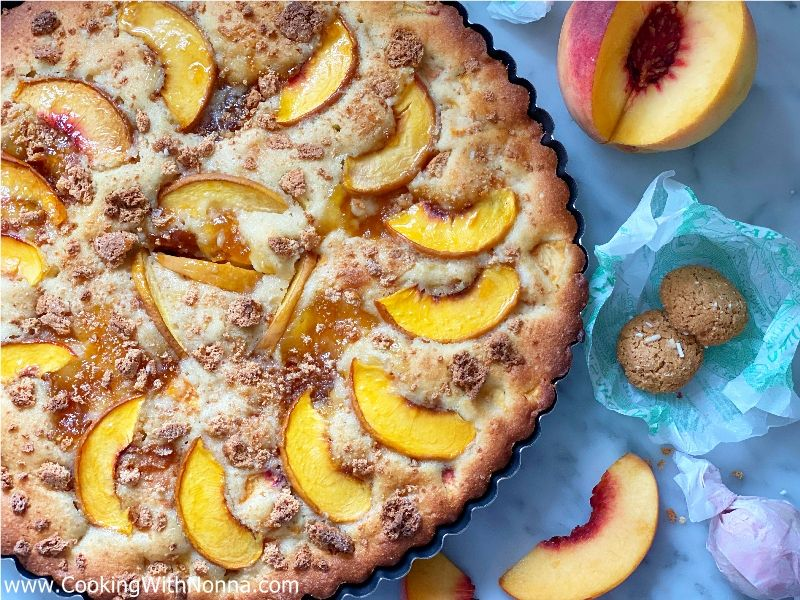 Fresh Peach and Amaretti Cake