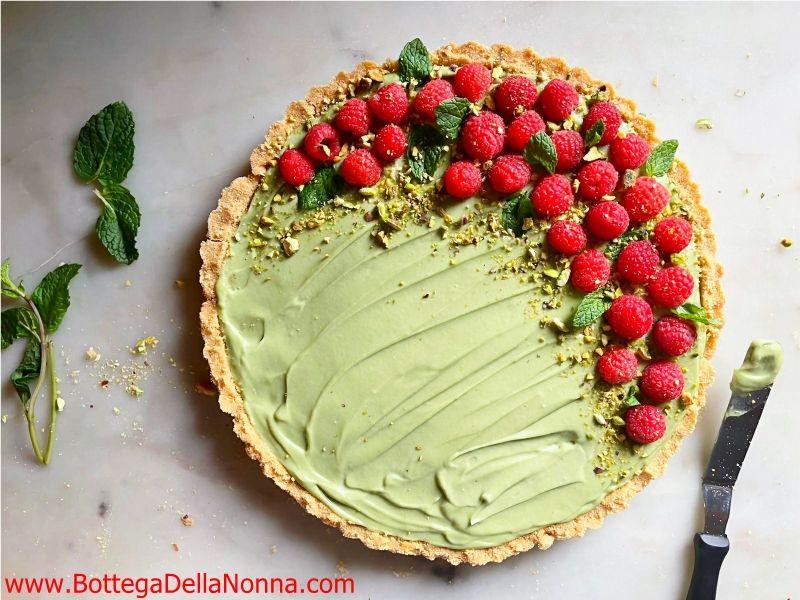 No Bake Pistachio Mascarpone Tart