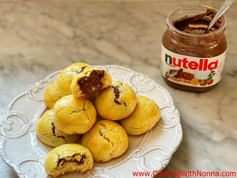 Nutella filled Olive Oil Cookies