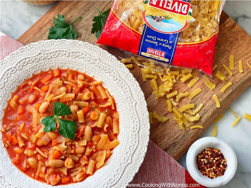 Pasta with Beans and Chickpeas - Pasta con Fagioli e Ceci