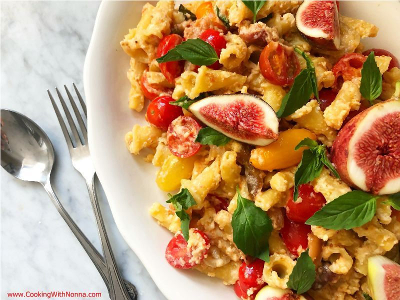 Pasta Salad with Figs and Heirloom Tomatoes