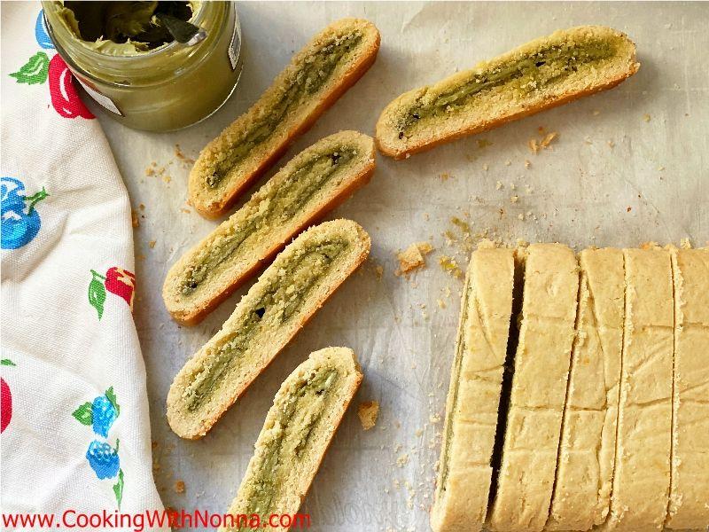 Pistachio Cream Filled Biscotti