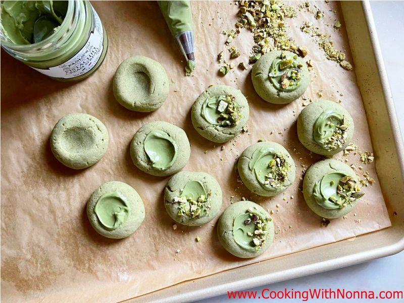 Italian Pistachio Thumbprint Cookies - Pistacchiotti