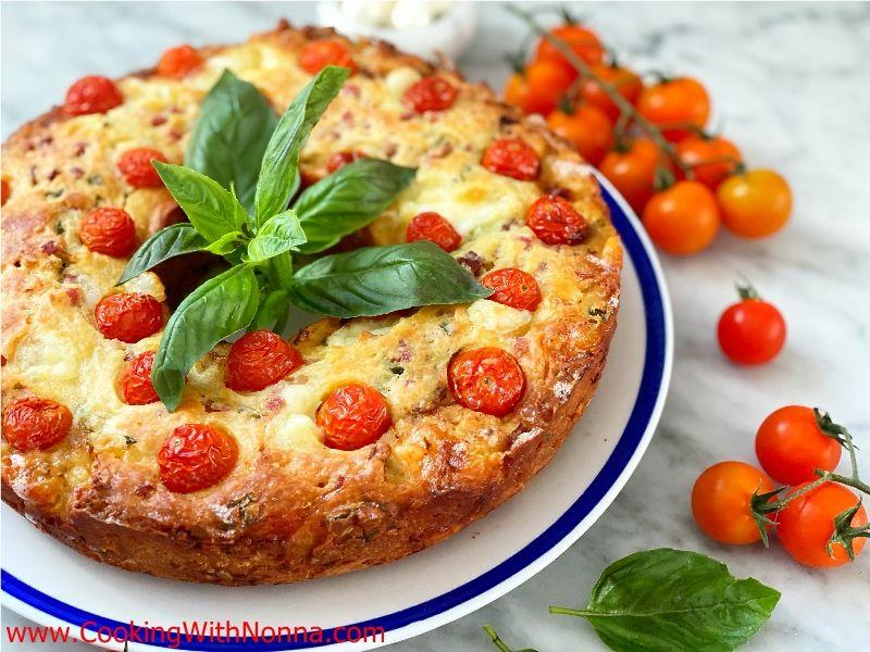 Prosciutto & Mozzarella Savory Ciambella Cake