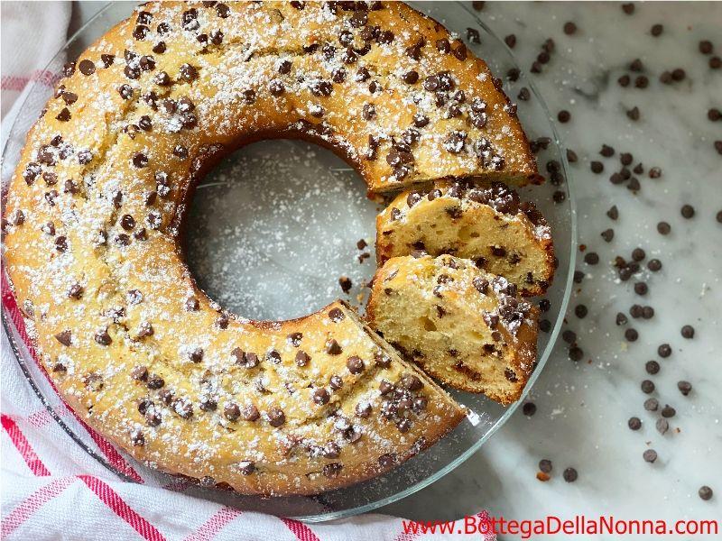 Ricotta Chocolate Chip Ciambella Cake