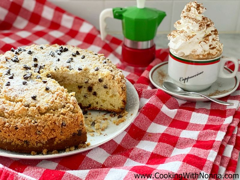 Ricotta Chocolate Chip Crumb Cake