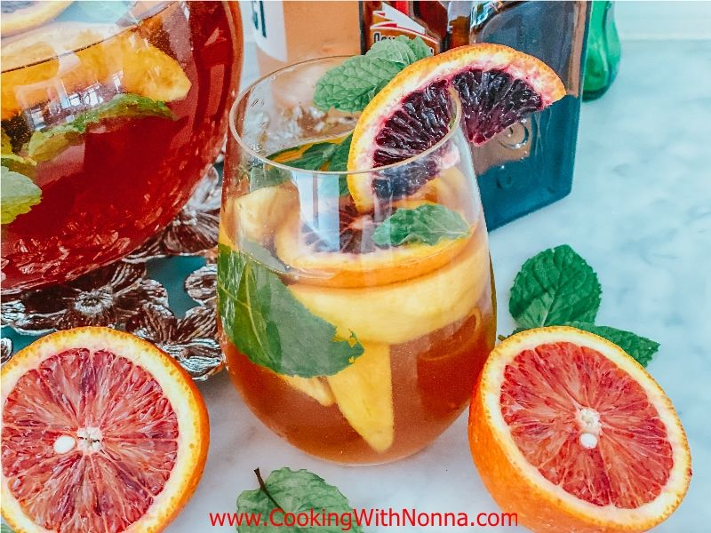 Rosé Sangria with Peaches & Blood Oranges