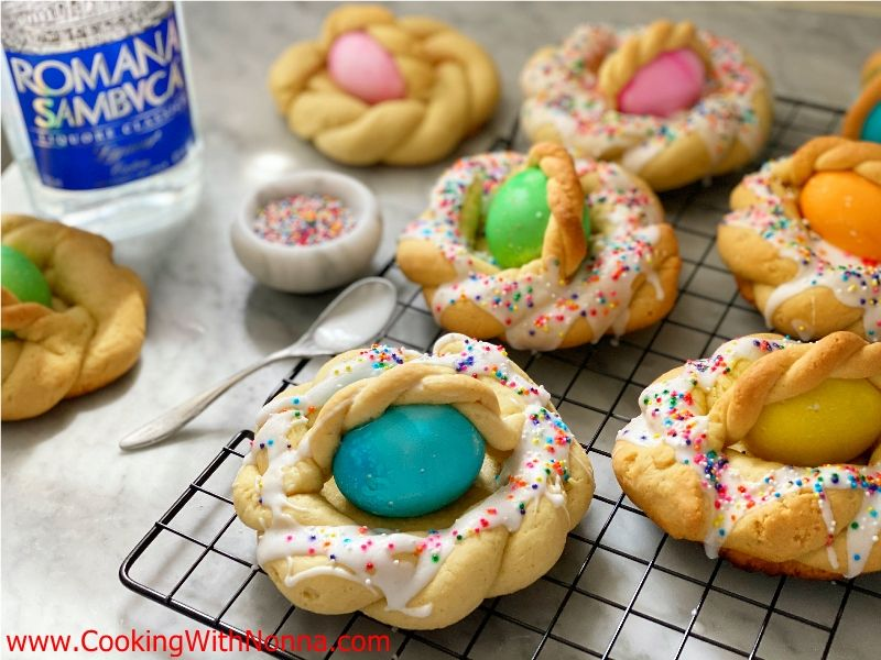 Sambuca Glazed Easter Bread Baskets
