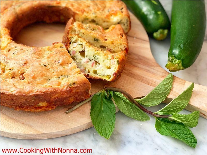 Savory Zucchini & Ricotta Ciambella Cake