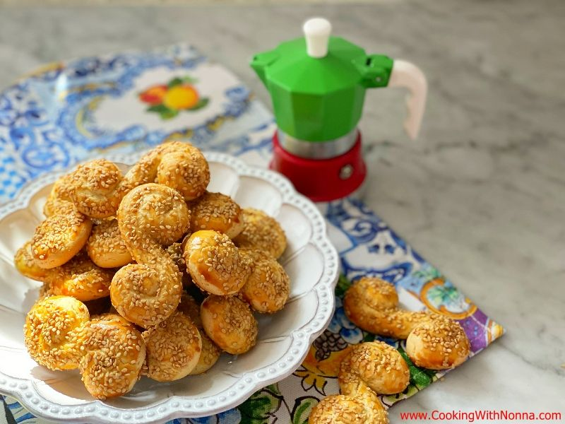 Sesame  Anise Olive Oil Cookies