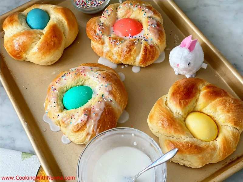 Soft Easter Brioche Breads