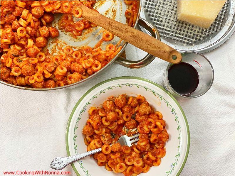 Anelletti e Polpettine - Spaghetti-O's & Meatballs