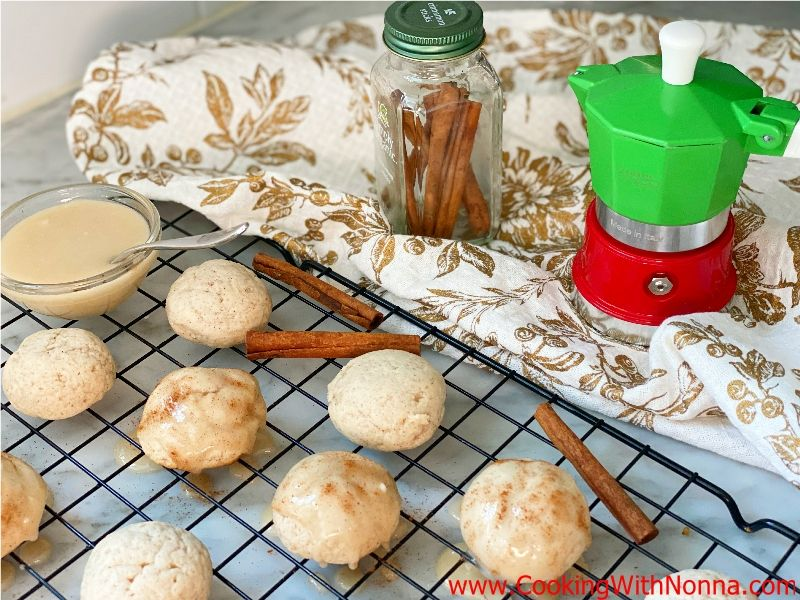 Spiced Ricotta Cookies with Maple Glaze