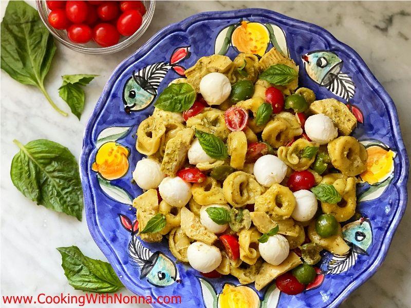 Tortellini Pesto Pasta Salad