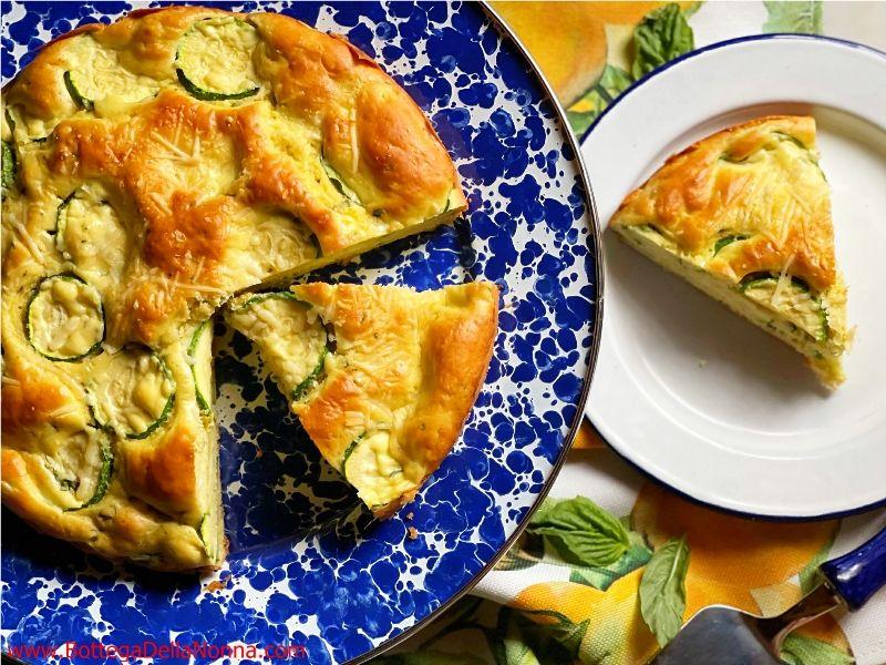 Zucchini & Cheese Cake