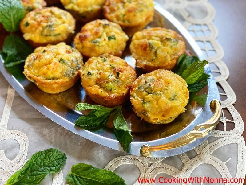Zucchini & Tomato Frittata Muffins