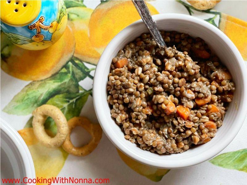 Lentils with Farro