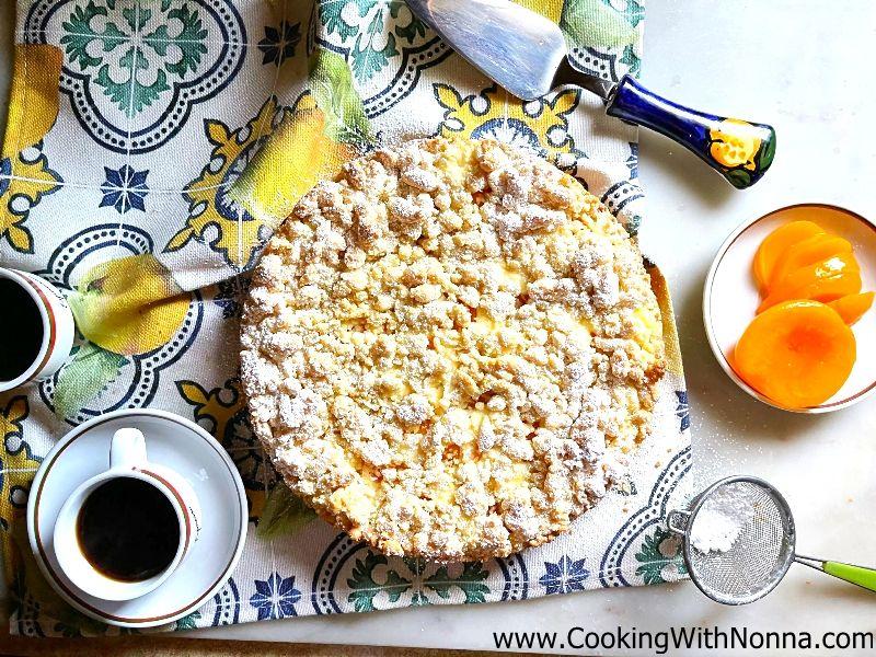 Peach & Ricotta Crumble Cake ~ Peach & Ricotta Sbriciolata