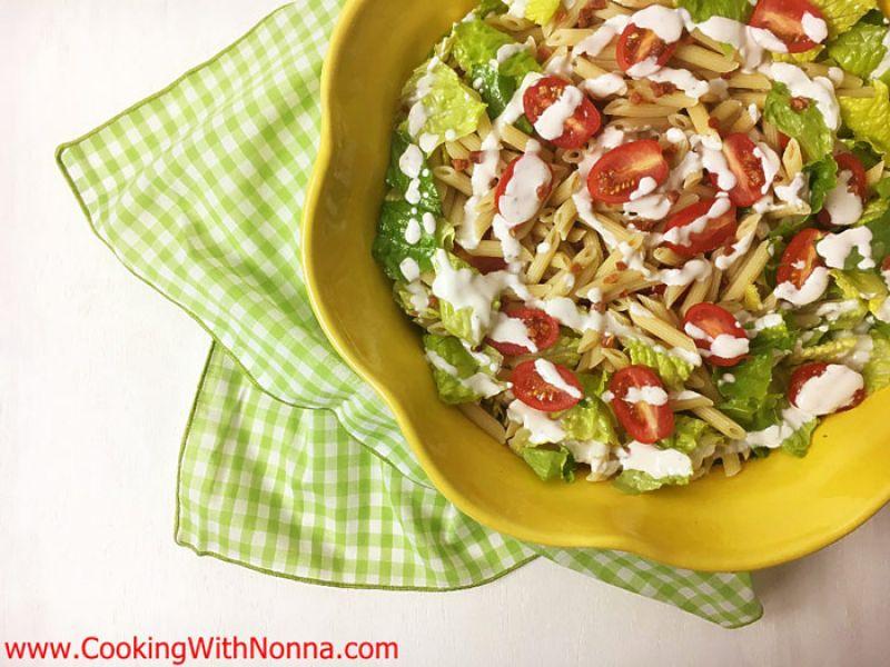Italian BLT Pasta Salad