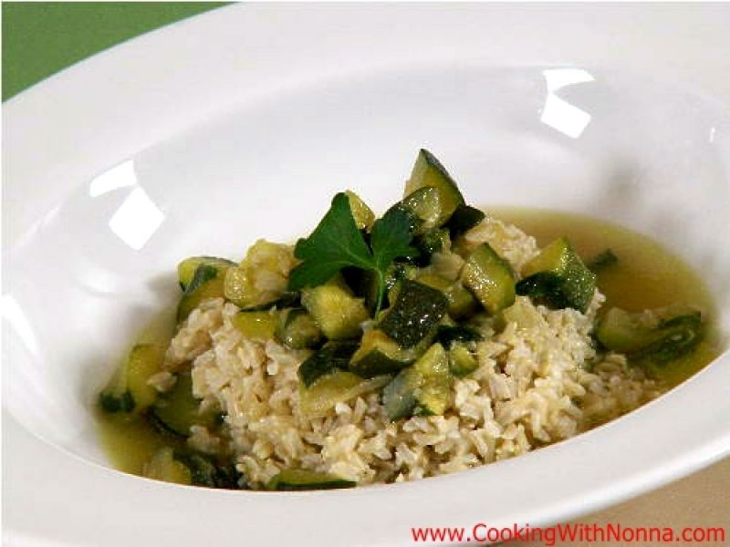 Brown Rice with Zucchini