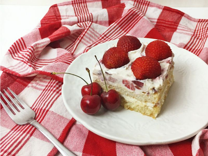 Cherry Berry Tiramisu with Moscato