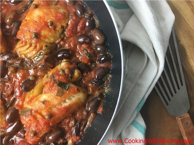 Cod with Olives & Tomatoes
