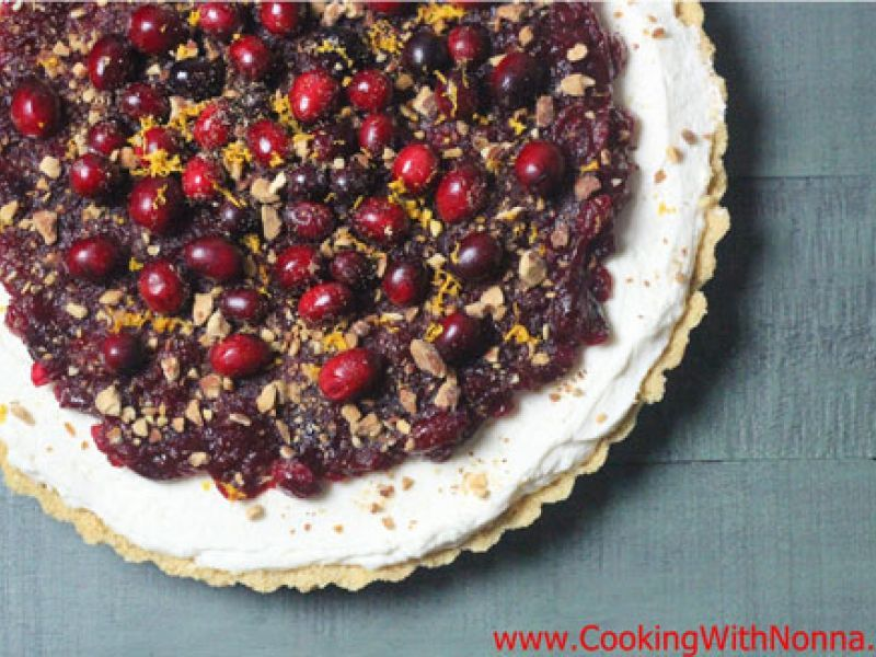 No-Bake Mascarpone and Cranberry Tart