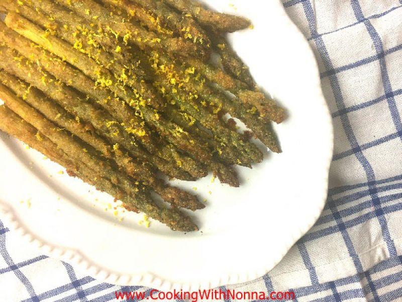 Lemon Pecorino Crusted Asparagus