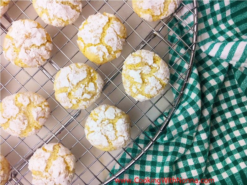 Limoncello Crinkle Cookies