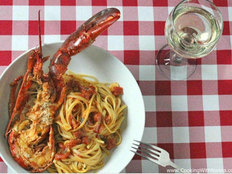 Linguine with Lobster Sauce