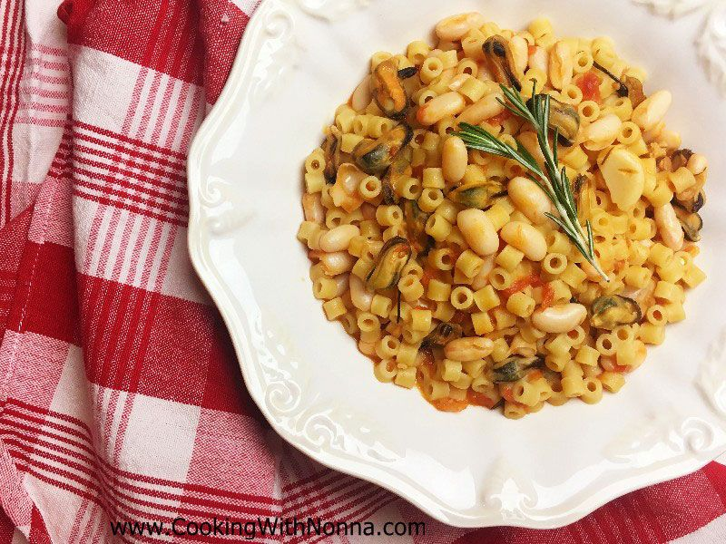Pasta, Beans and Mussels - Pasta, Fagioli e Cozze