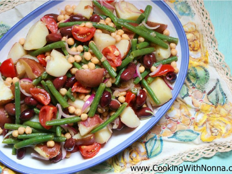 Red Potatoes and String Beans Salad