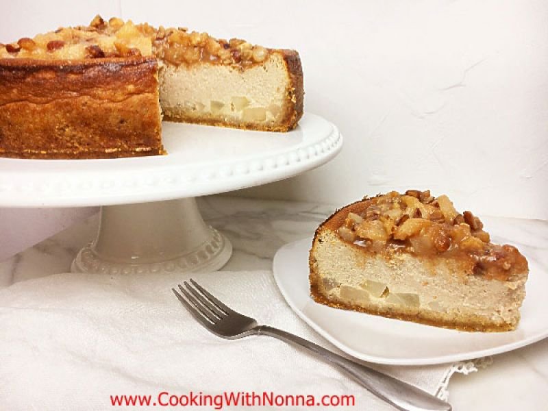 Ricotta and Pear Cheesecake with Hazelnuts