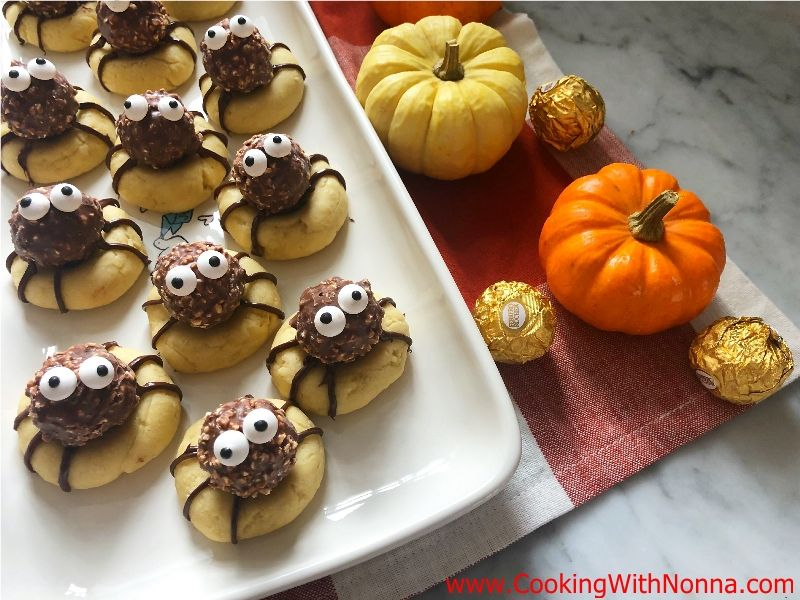 Rocher Spider Cookies