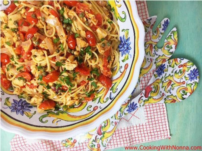 Spaghetti with Tuna and Capers