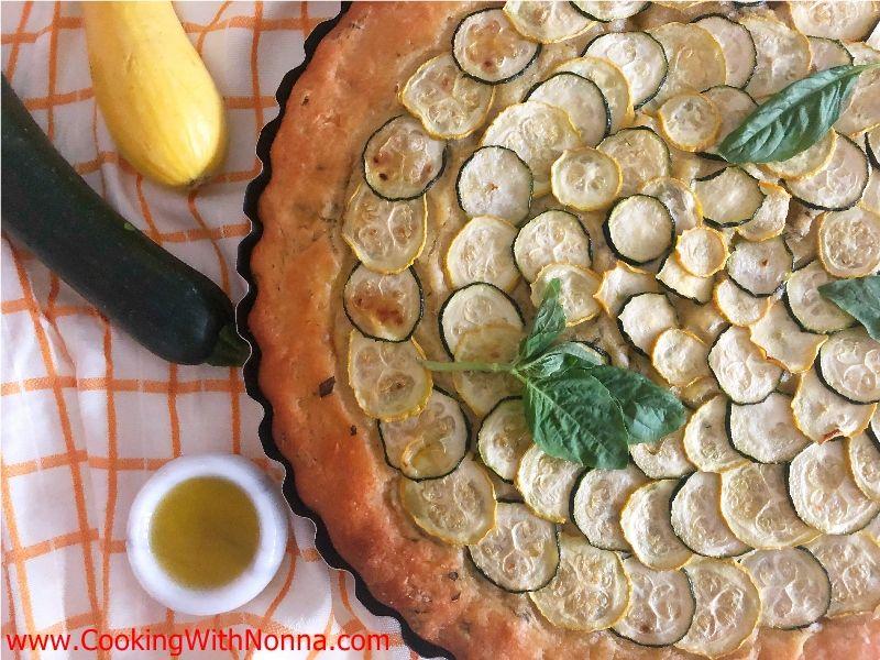 Summer Squash Focaccia-Zucchini Focaccia
