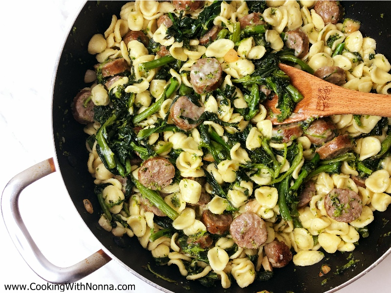 Orecchiette with Broccoli Rabe and Sausage: Italian-American Style