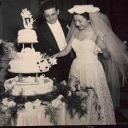 """This photo is of my parents wedding day December 2, 1951. Madeline and Robert Sauchelli. They lived in Brooklyn, NY before they were married. This December they will be married """"62"""" years. God has blessed them for sure."""