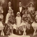 This photo is of my Nonna Julia and my grandfather Louis Fiore married in December 1928, in Brooklyn, NY.  Nonna Julia's family is from Catanzaro,Calabria and grandpa Louis's family is from Caserta, Campania. (my mom's parents)