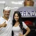 Rossella with Brandi's Master Pizzaiolo Enrico Palumbo.
