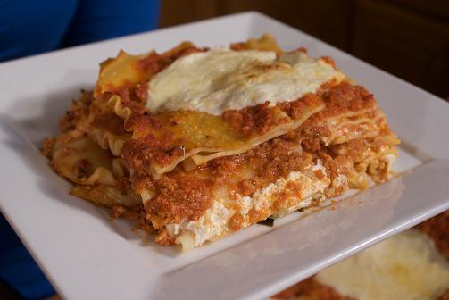 Lasagna with Three Cheeses