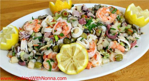 Seven fishes seafood salad cooking with nonna for Seven fishes recipe