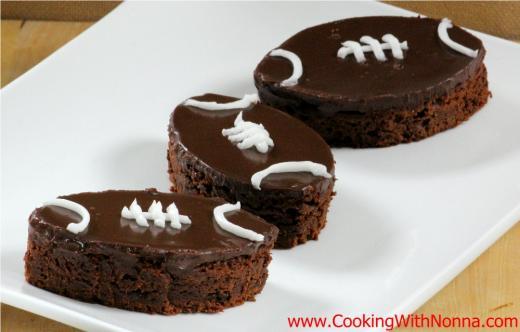 Nutella Football Brownies