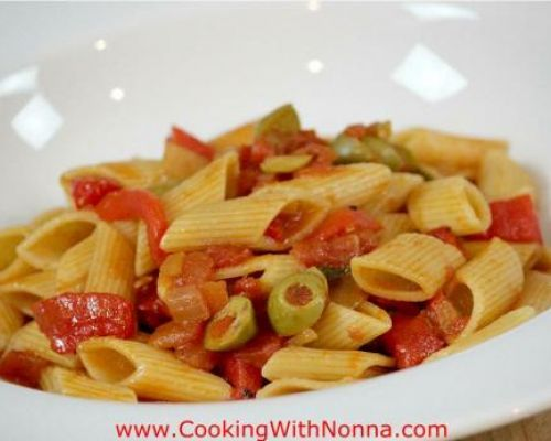 Penne Rigate with Fire Roasted Peppers