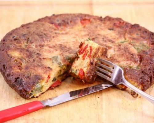 Roasted Peppers Frittata