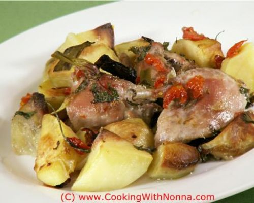 Baked Rabbit and Potatoes